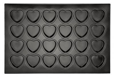Khuôn bánh 24 trái tim bằng