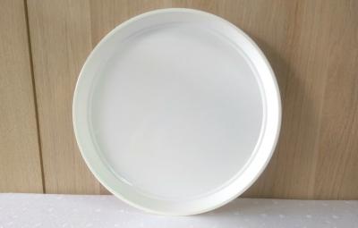Dĩa nhựa hình tròn màu trắng