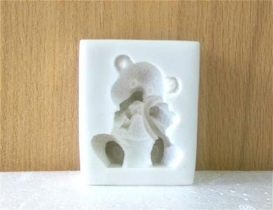 Khuôn chocolate/Fondant silicone hình con gấu Teddy 3D