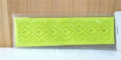 Khuôn chocolate/Fondant silicone hình kim cương lượn sóng