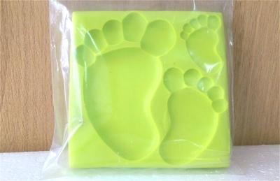 Khuôn chocolate/Fondant silicone hình bàn chân