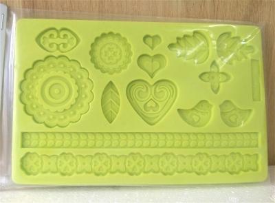 Khuôn chocolate/Fondant silicone hình hoa
