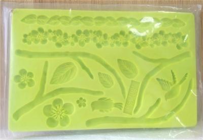 Khuôn chocolate/Fondant silicone hình cây lá