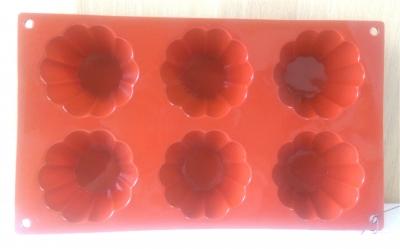 Khuôn silicone 6 hình hoa