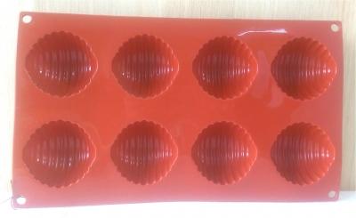 Khuôn silicone 8 nữa hình cầu sọc