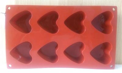 Khuôn silicone 8 trái tim