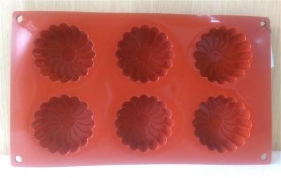 Khuôn silicone 6 hoa cúc tây