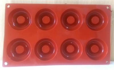 Khuôn silicone 8 hình bánh chiffon tròn