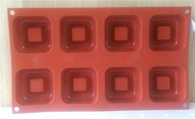 Khuôn silicone 8 hình bánh chiffon vuông