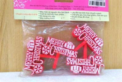 Chữ Merry Christmas (Màu Đỏ) 50 cái/bịch
