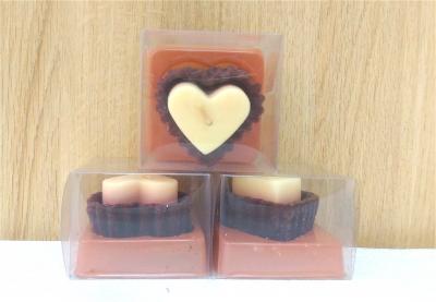 Nến thơm cao cấp hình tim mùi socola