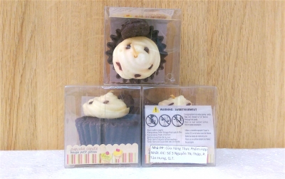 Nến thơm cao cấp hình cupcake mùi socola