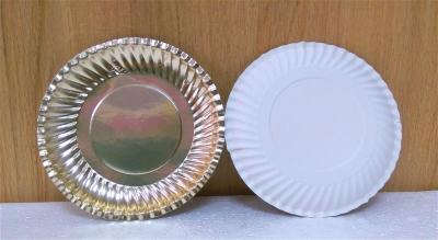 Đĩa giấy mạ vàng - 10 cái/bịch