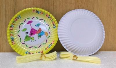 Đĩa giấy + nĩa - 10 cái/bịch