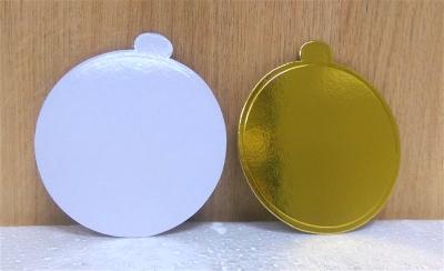 Đế bánh tròn vàng 7cm - 50 cái/xấp