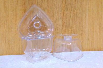 Ly nhựa trong trái tim - 20 cái/bịch