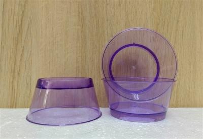 Ly nhựa trong màu tím - 20 cái/bịch