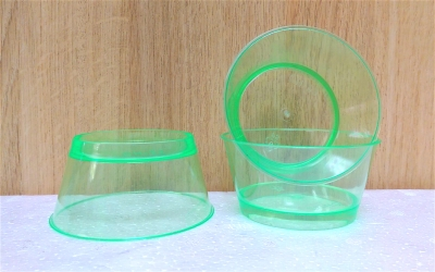Ly nhựa trong màu xanh lá- 20 cái/bịch