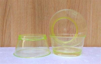 Ly nhựa trong màu vàng - 20 cái/bịch